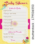 baby shower wish and advice...   Shutterstock .eps vector #179536553