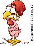 plucked cartoon chicken. vector ... | Shutterstock .eps vector #179540753
