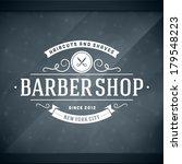 barber shop vintage retro... | Shutterstock .eps vector #179548223