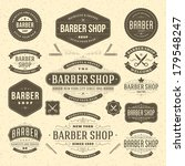 barber shop vintage retro... | Shutterstock .eps vector #179548247