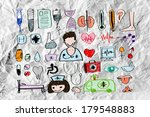medical icon set idea on... | Shutterstock . vector #179548883