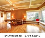 Living Room With A Coffered...