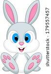 cute baby rabbit cartoon | Shutterstock . vector #179557457
