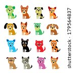 cute puppy vector | Shutterstock .eps vector #179564837