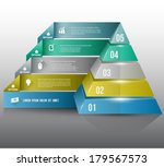 pyramid with icons long shadows ... | Shutterstock .eps vector #179567573