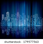 night with city skylines and... | Shutterstock .eps vector #179577563