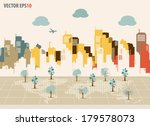 colorful buildings design.... | Shutterstock .eps vector #179578073