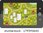 touch screen tablet gps with... | Shutterstock .eps vector #179593643