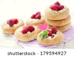 homemade delicious buns with... | Shutterstock . vector #179594927