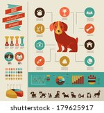 Dogs infographics - vector illustration and icon set - stock vector