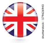 union jack flag button | Shutterstock .eps vector #179626943