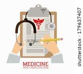 medical design over white... | Shutterstock .eps vector #179637407