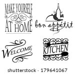 Decor messages and signs for wall decal