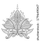 intricate delicate floral... | Shutterstock .eps vector #179649047