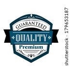 premium guaranteed quality... | Shutterstock .eps vector #179653187