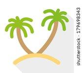 palm tree icon. vector eps10