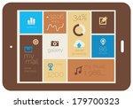 mobile flat design ui template...