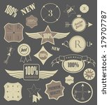 set of retro vintage labels. | Shutterstock . vector #179707787
