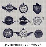 set of retro vintage labels. | Shutterstock . vector #179709887