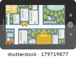 touch screen tablet gps with... | Shutterstock .eps vector #179719877