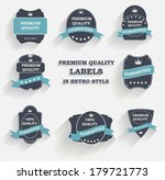 vector premium quality label... | Shutterstock .eps vector #179721773