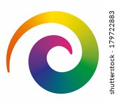 colorful spiral design element... | Shutterstock .eps vector #179722883