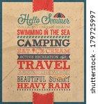 summer poster  vector... | Shutterstock .eps vector #179725997