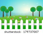 easter landscape | Shutterstock . vector #179737007