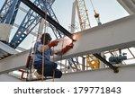 welder with protective mask... | Shutterstock . vector #179771843