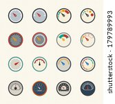circular gauges icons set | Shutterstock .eps vector #179789993