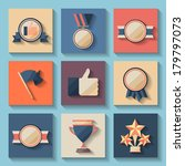 trophy and awards icons set.   Shutterstock .eps vector #179797073