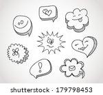vector illustration of speech... | Shutterstock .eps vector #179798453