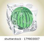 ice water melon | Shutterstock .eps vector #179803007