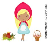 little red riding hood with a... | Shutterstock . vector #179844683