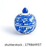benjarong porcelain on white... | Shutterstock . vector #179864957