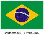 brazil flag  | Shutterstock .eps vector #179868803