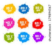 colorful discount labels ... | Shutterstock .eps vector #179894567