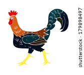 cartoon cockerel | Shutterstock . vector #179898497