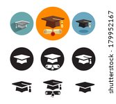 studies icons  | Shutterstock .eps vector #179952167