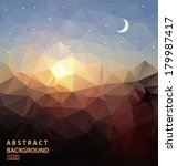 abstract background polygonal....   Shutterstock .eps vector #179987417