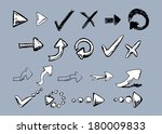 set of hand drawn arrows.... | Shutterstock .eps vector #180009833