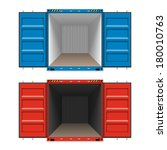 freight shipping  open cargo... | Shutterstock .eps vector #180010763