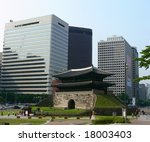 Sungnyemun Gate in Seoul, South Korea - stock photo