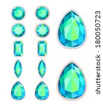 set of five forms of gemstone... | Shutterstock .eps vector #180050723