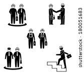 set of active human pictograms... | Shutterstock .eps vector #180051683
