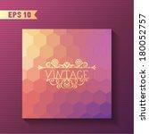 geometric vector template.... | Shutterstock .eps vector #180052757