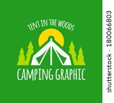 camping tent graphic with trees ... | Shutterstock .eps vector #180066803
