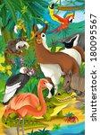 cartoon animal   illustration... | Shutterstock . vector #180095567