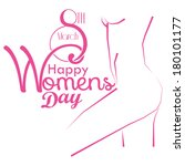 vector happy women's day card... | Shutterstock .eps vector #180101177