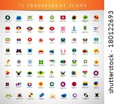 unusual icons set   isolated on ... | Shutterstock .eps vector #180122693